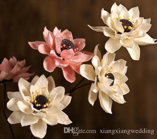 Artificial Water Lotus Fruit With Stem Eternal Flower Real Lotus