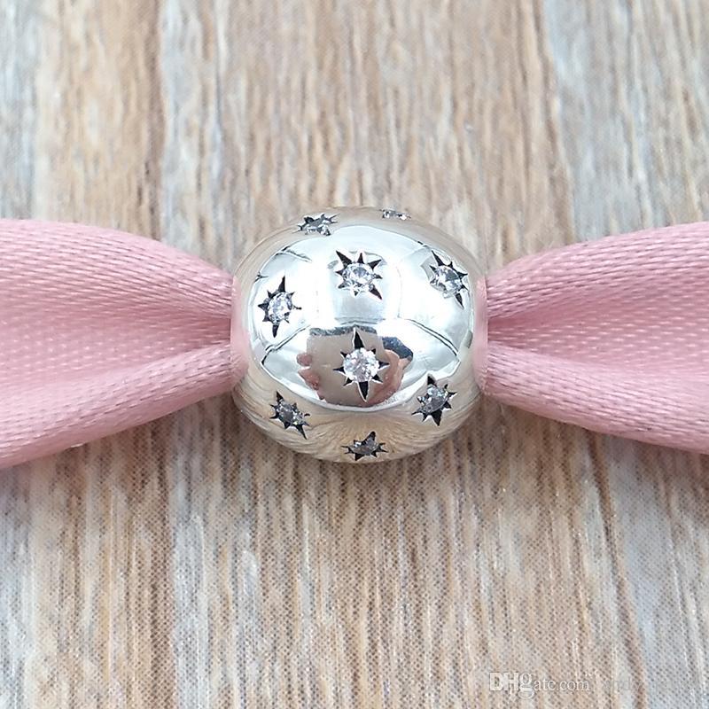Autentico 925 Sterling Silver Beaks 'DSN Resort' 'Charm Adatto Bracciali europei Bracciali in stile Pandora Collana 7501055880569P