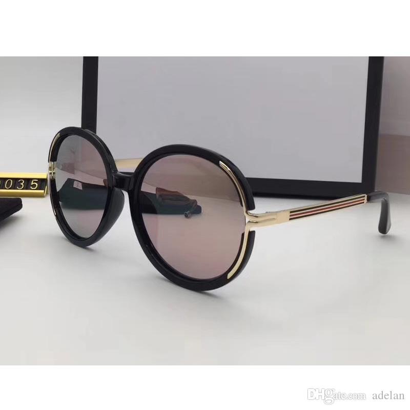 Großhandel Markenumbau Sonnenbrillefrauen Runder Rahmen Der Frauen ...