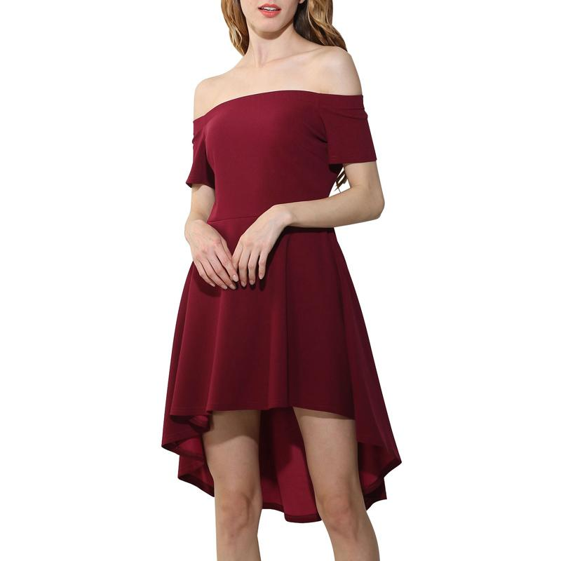 172ba9b0c1f2 2019 Ladies Dress Spring And Summer European And American New Style Dress  One Shoulder Short Sleeved Swallowtail Skirt From Mei05153234
