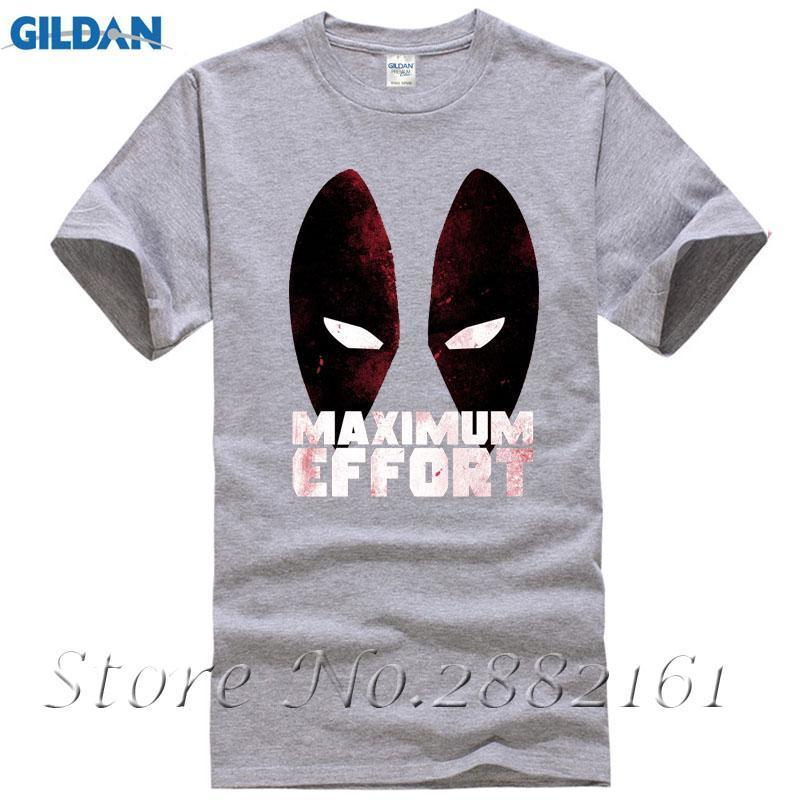 b5ea76ac Deadpool Maximum Effort T Shirt Comic Eyes Superhero Funny Movie Mens Gift  Top Cotton Loose Short Sleeve Mens Shirts Awesome T Shirt Design Shirt And  Tshirt ...