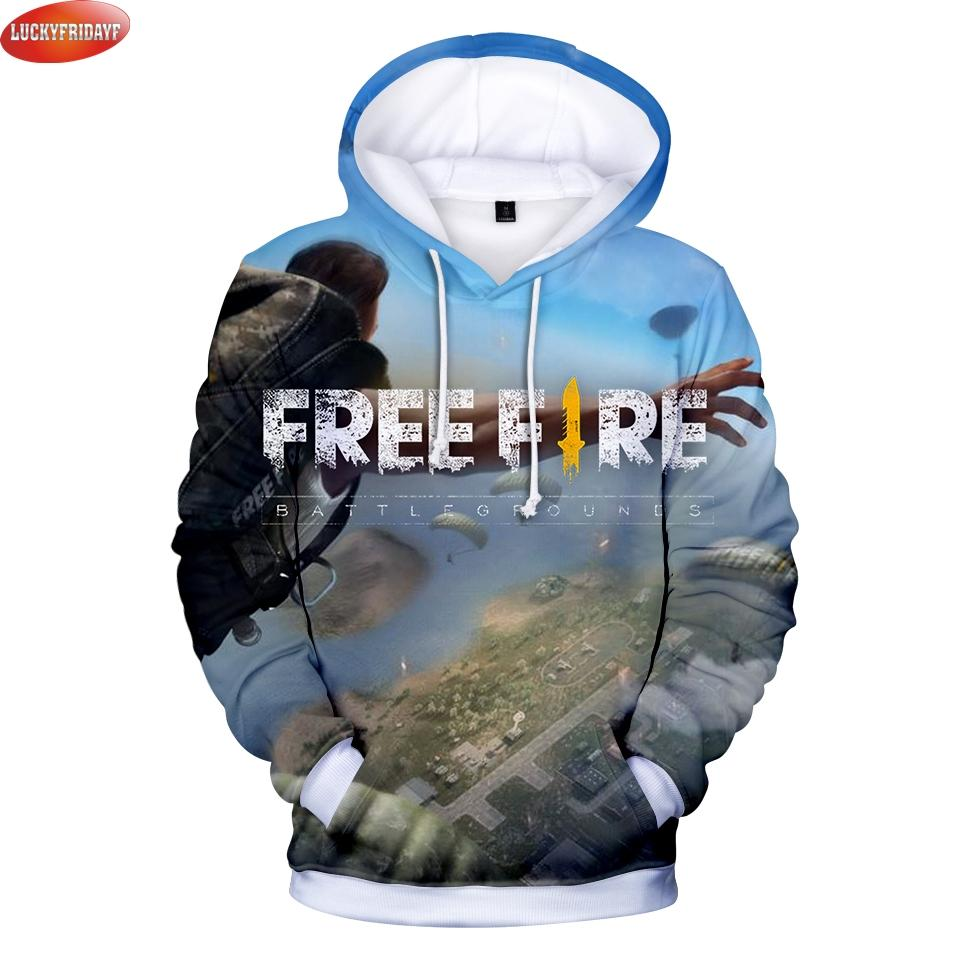 Compre Free Fire Sudaderas Con Capucha Impresas En 3D Mujer   Hombre Moda  Sudaderas Con Capucha De Manga Larga Juego Popular Free Fire Casual  Sudaderas Con ... 4c3422e17c8