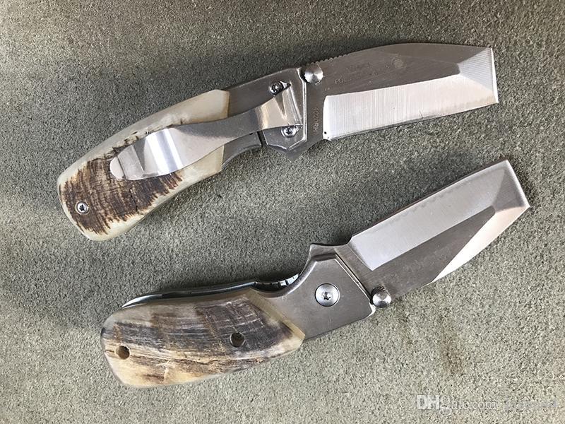 grossista 4020 Corni maniglia Browning coltello pieghevole di alta qualità Camping Caccia di sopravvivenza Coltello Chiusura Strumenti EDC Coltello regalo pieghevole all'aperto