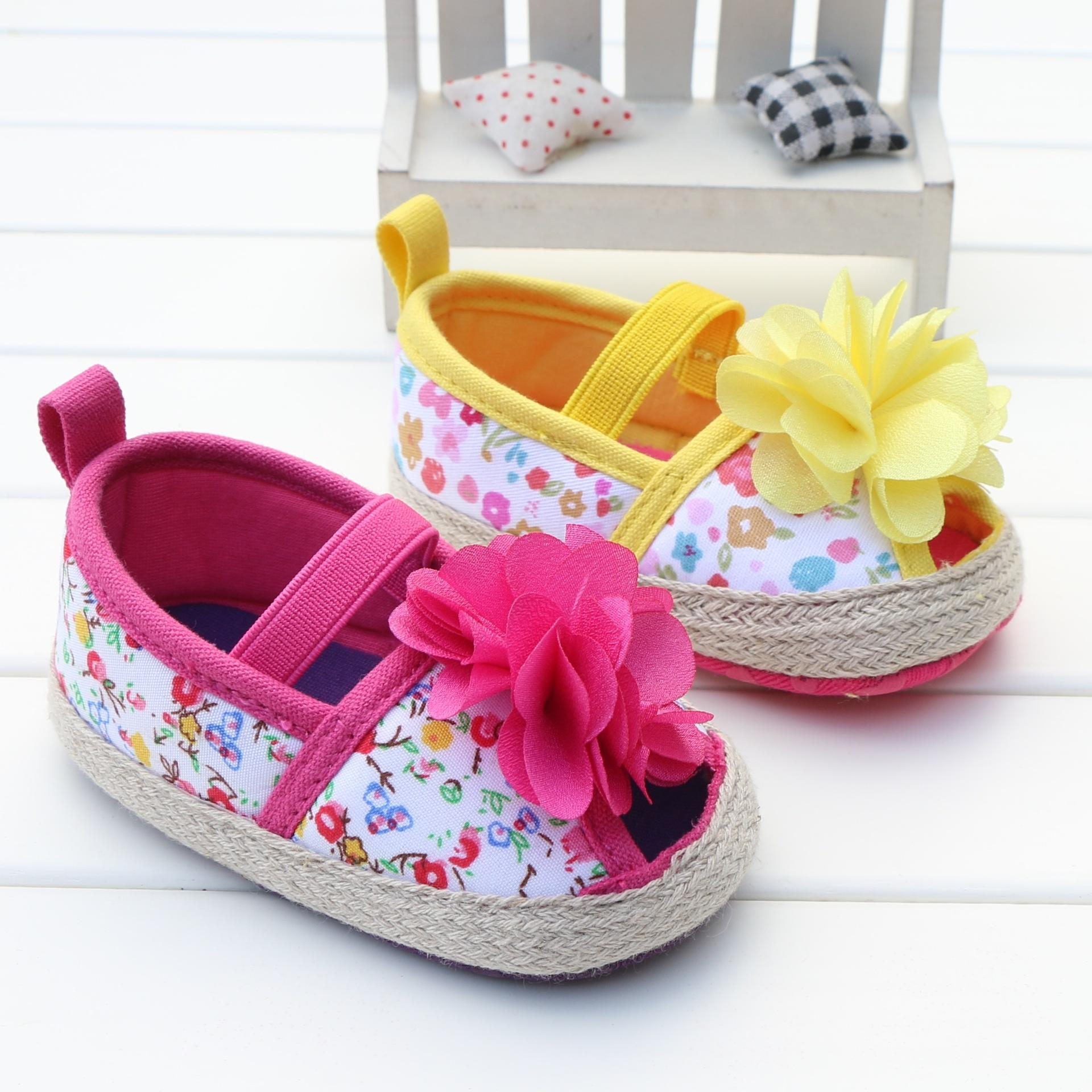 2018 Cute Flower Open Toe Baby Girls Shoes Summer Spring Soft Indoor