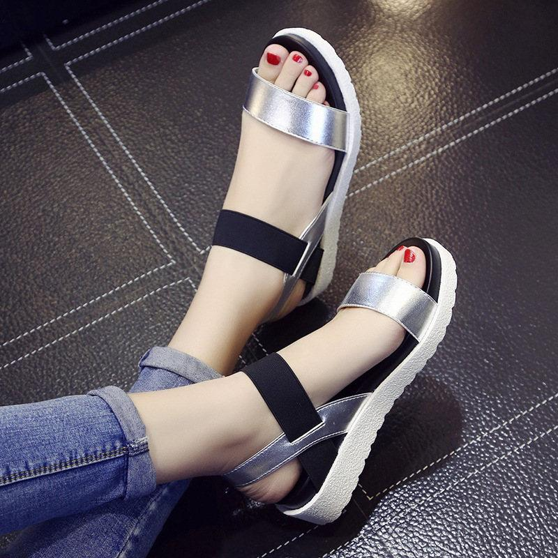 289e3ff8585b 2018 Summer New Women s Sandals Europe And the United States Open ...