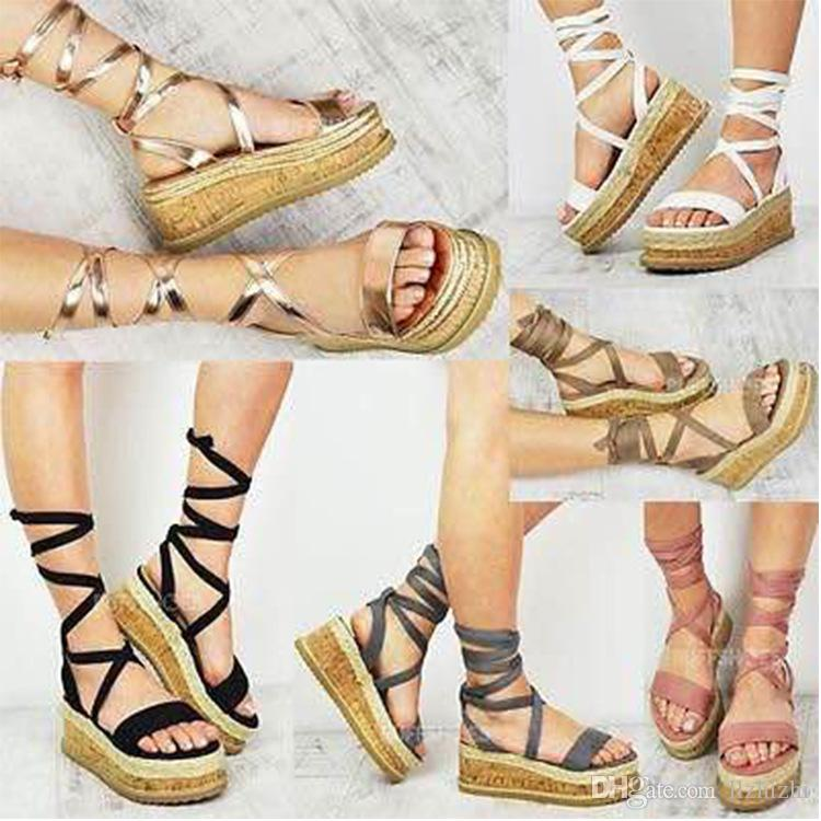 b0fe0ddccdf New Sandals for Summer 2018.Increased Fish-mouth Women s Shoes And Cross  Strap Roman Shoes.Sexy And Elegant Ladies  Sandals.T320 New Fashion Trend  Elegant ...