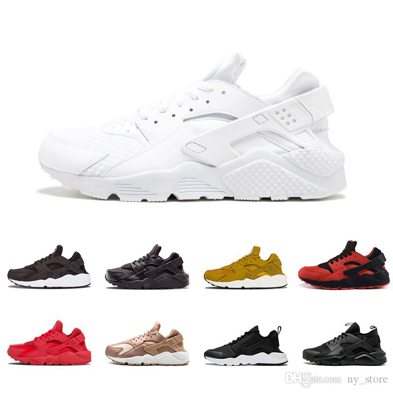 51220a54bb07 Huarache 4.0 IV 1.0 I Rose Gold Running Shoes Triple White Black Huraches  Running Trainers Men Women Shoes Huaraches Sneakers 36 45 Racing Shoes Good  ...