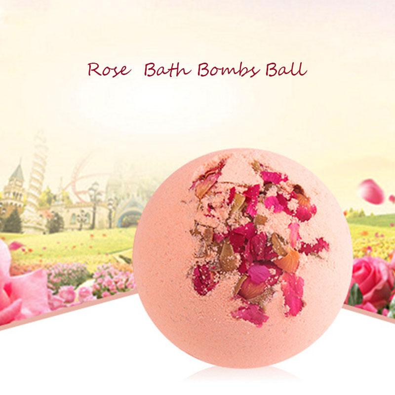 100g/pcs Rose Odor Deep Sea Bath Salt Body Essential Oil Bath Ball Natural Bubble Bath Bombs Ball