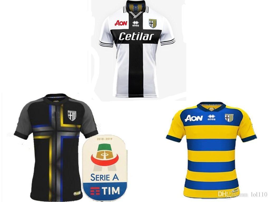 34e9a5643f681 18 19 Parma JERSEYS DE TERCER TERCEROS Calcio 1913 CICIRETTI CERAVOLO 30  DEZI 33 DI GAUDIO 20 HOGAR DA CRUZ 15 2018 2019 JERSEY CAMISETA Por Lol110