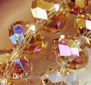 Perle di cristallo finemente sfregiate di champagne da AB 8mm