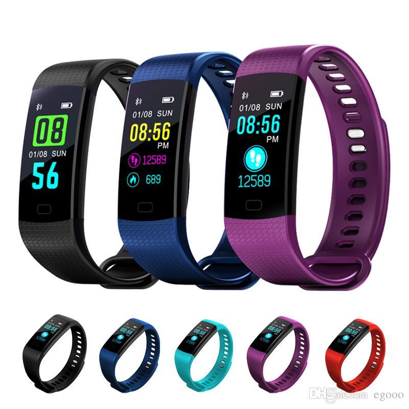0b28e6e54b1a Pantalla en color Reloj de pulsera inteligente Electrónica inteligente  Pulsera Actividad de ritmo cardíaco impermeable para VS Xiaomi Miband 2 M2