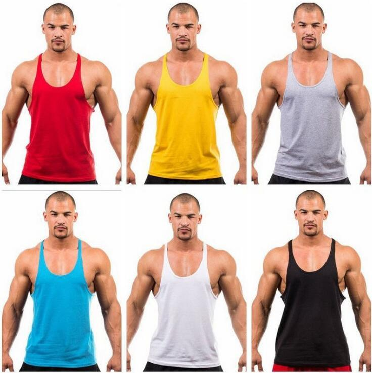 Factory direct sale ! Cotton Stringer Bodybuilding Equipment Fitness Gym Tank Top shirt Solid Singlet Y Back Sport clothes Vest