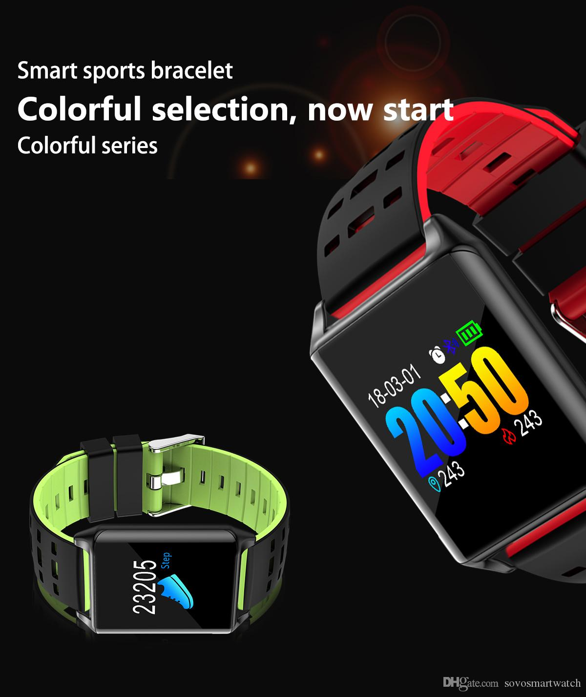 SOVO RS11S Sport Smart Band OLED Color Screen FIT Heart Rate Monitor  Fitness Bracelet Massage Notification Smart Wristband Android IOS