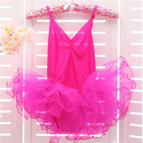 New Arrival Child Kids Girls Strap Tutu Dress Candy Color Dancewear Ballet Skirt Dance 3-12Y