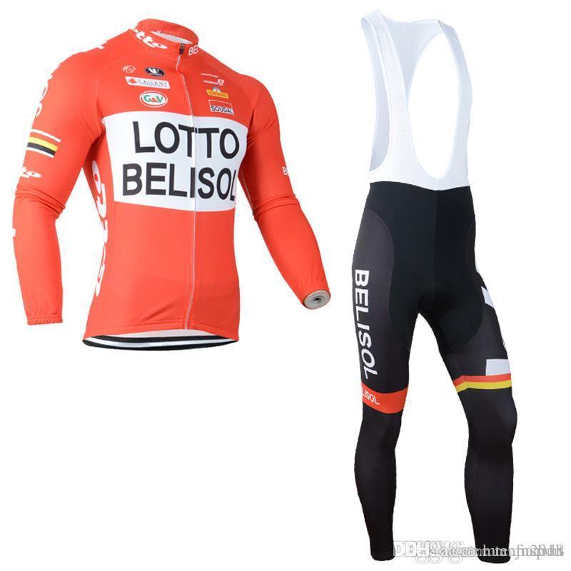 LOTTO Team Cycling Long Sleeves Jersey Bib Pants Sets Hot Sale Men Spring  Cycling Clothing Mountain Bike Wear Outdoor Sportswear C1414 Best Bike  Shorts ... 81bc51439