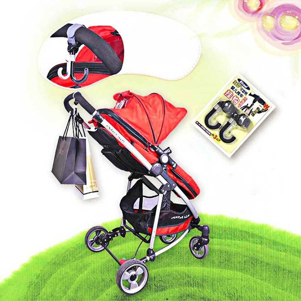 2pcs Baby Stroller Hooks Bag Handle Grab Stroller Accessories Handle Hook for Baby Strollers Cart Carriages Wheelchairs