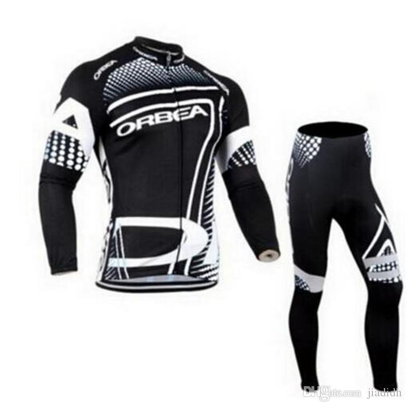 edc08b58f New 2018 ORBEA Team Cycling Long Sleeves Jersey Bib Pants Sets ...