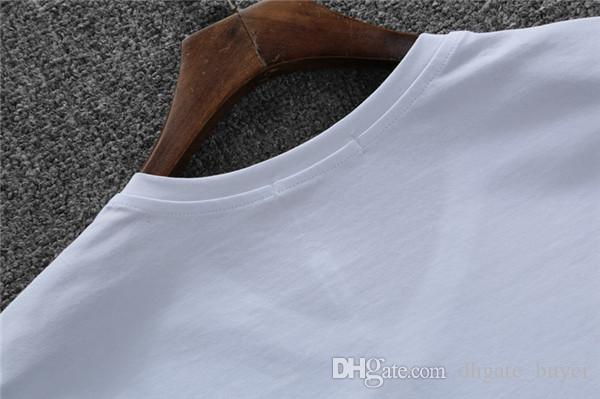 2017 Yeni Bahar Yaz T Shirt Erkekler Moda curling kısa kollu Slim streç Tees