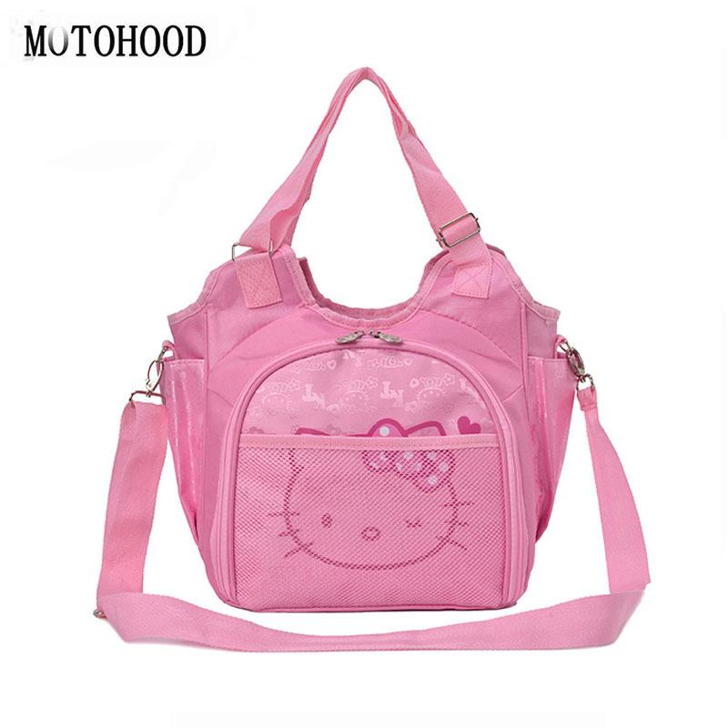 9905a9199dab 2019 MOTOHOOD Cute Hello Kitty Baby Diaper Bag Brand Maternity Nappy Bags  For Mom Mummy Baby Changing Stroller Nappy Bags Kids From Begonior