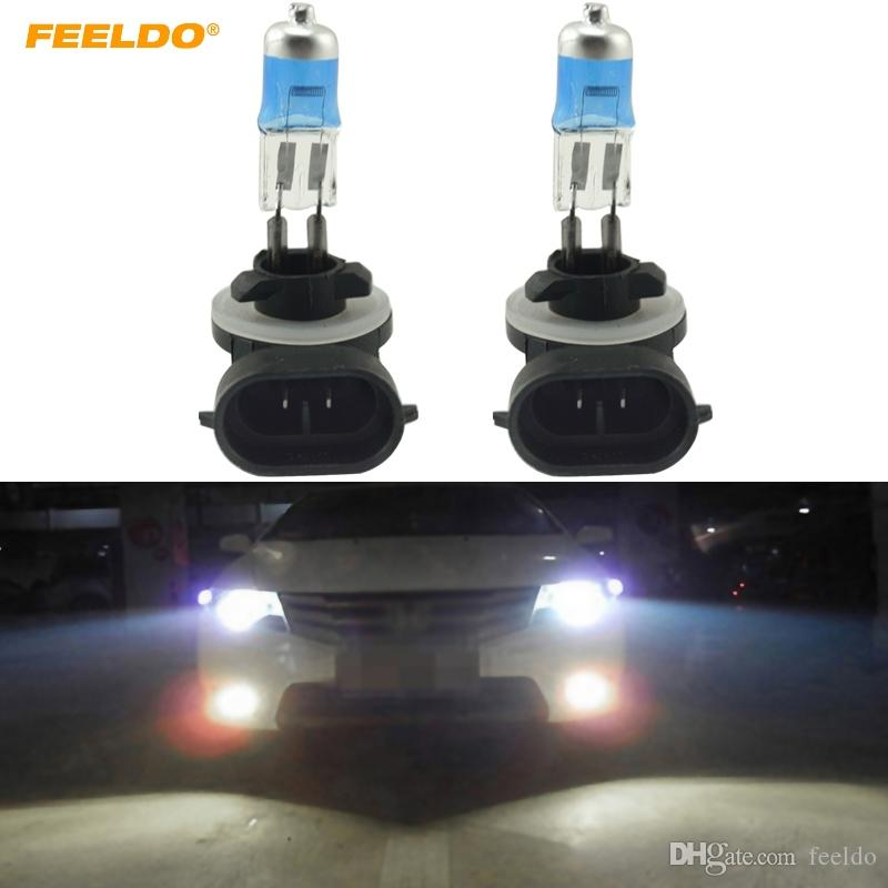 FEELDO 10PCS White Auto 881 27W Car Fog Lights Halogen Bulb Headlights Lamp Car Light Source Parking #2243