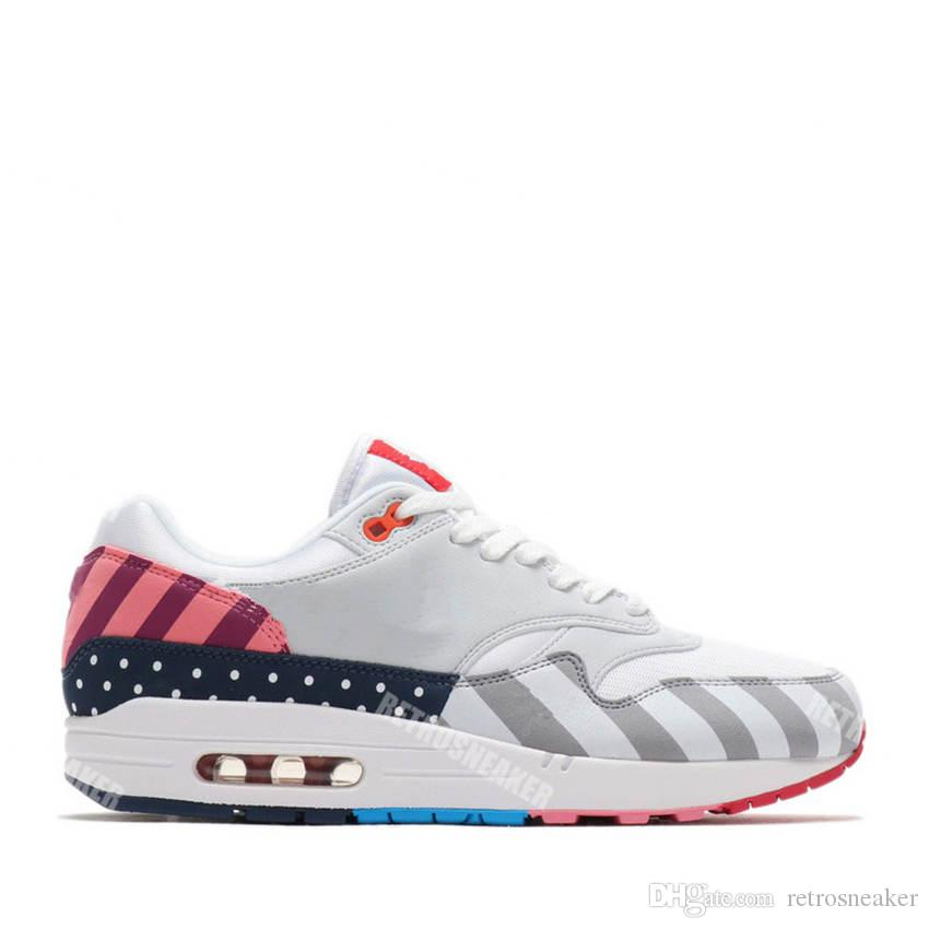 64eff5e5c65 2018 New Netherland Designer Piet Parra X 1 White Multi Rainbow Running  Shoes For Top 1s Women Men Trainers Sports Sneakers Size36 44 Jordans  Running Shoes ...