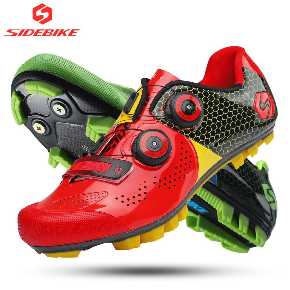 best website abf59 d131f all ingrosso scarpe da ciclismo in carbonio mountain bike uomo MTB  autobloccante corsa atletica ultraleggero traspirante antiusura rosso