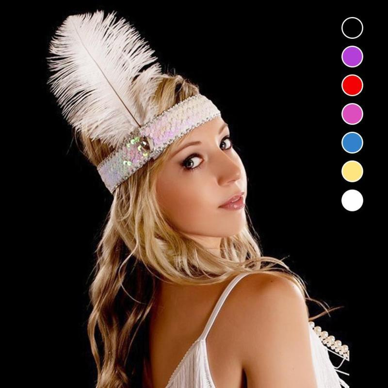 Party Supllies Feather Headdress Feathers With Sequins Set Auger Color  Indian Headband Gift 45 Buy Party Hats Buy Party Hats Online From  Walkerstreet cf71424fd0e