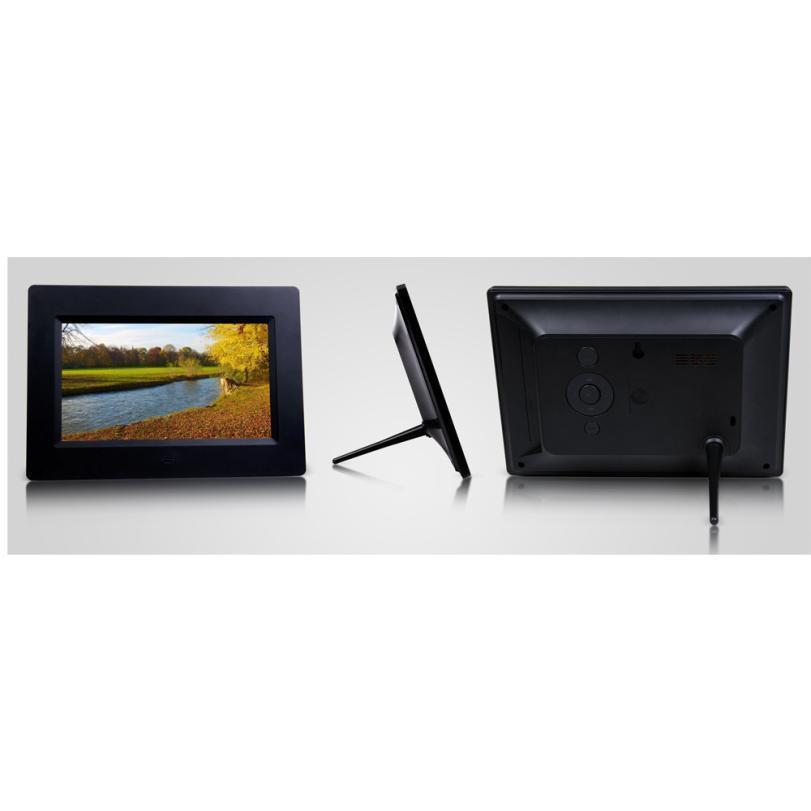 2018 7inch HD LCD Digital Photo Frame With Alarm Clock Slideshow MP3 ...