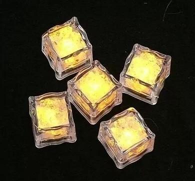LED Buz Küpleri Işıkları Parti Gece Lambası Yavaş Yanıp Sönen 7 Renk Değiştirme led lamba Kristal Küp sevgililer Günü Partisi Düğün Tatil işık