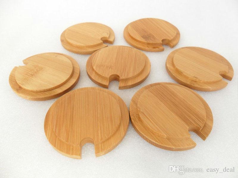 Tapa de cerámica creativa de la tapa de la taza de bambú de la tapa de la taza de 8cm para la taza de café y de té respetuosa del medio ambiente ZA6161