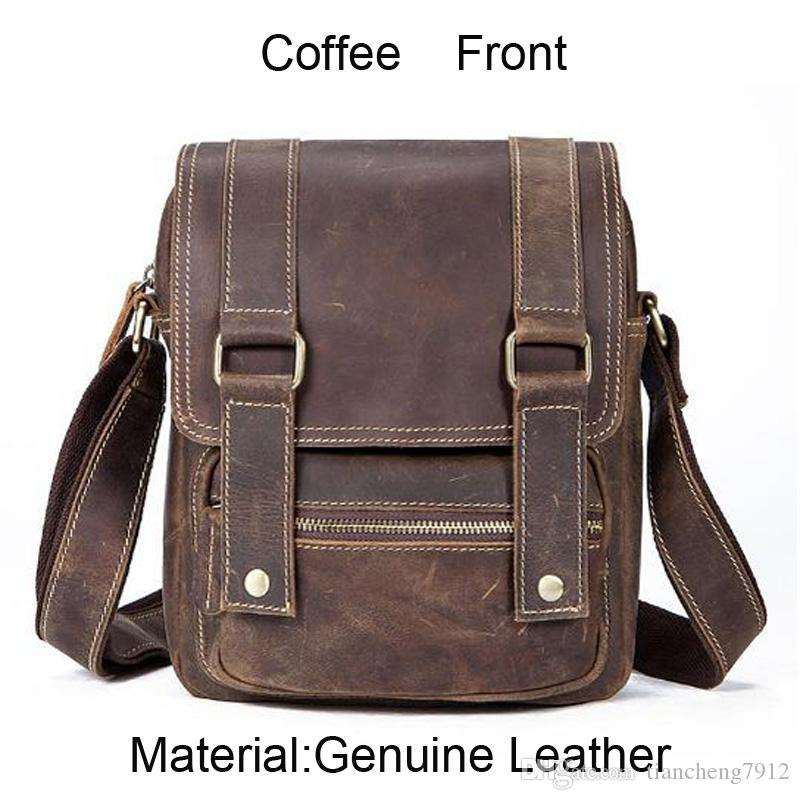 595d15d57e Supply New Style Men Genuine Leather Shoulder Bag Vintage Leather ...