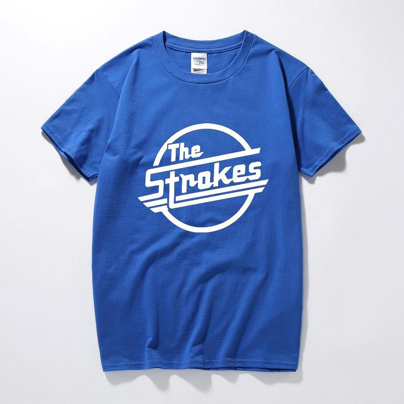 e3564b732bcc The Strokes Band T Shirts Men Indie Rock T Shirts Short Sleeve Cotton  Casual Music Clothing Tshirts Man Rock Summer Tops Tee T Shirts Designer  Funny Tee ...