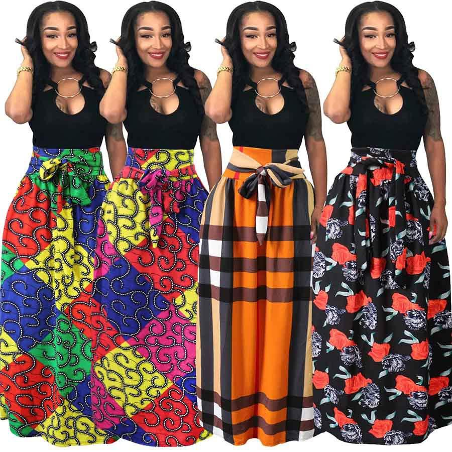 5034c233aac M-4XL Women Plus Size Ankara Dashiki African Print Women High Waist ...