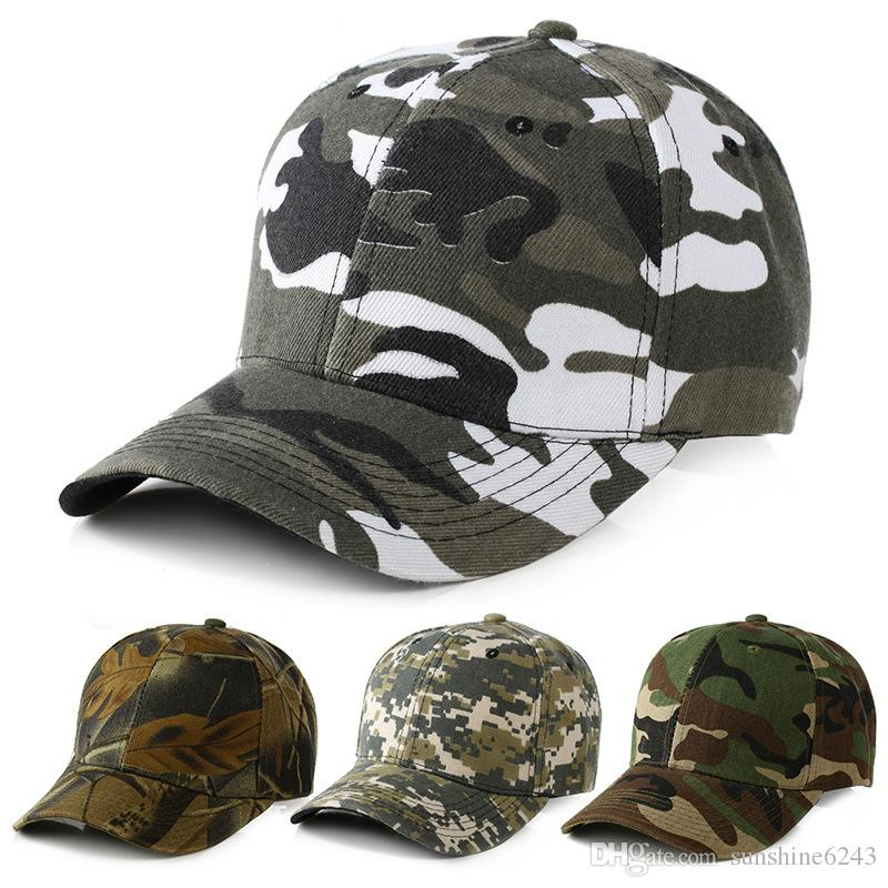 5152a41e030 Mens Army Military Camo Cap Baseball Casquette Camouflage Hats For Men  Hunting Camouflage Cap Women Blank Desert Camo Hat Customized Hats Custom  Hat From ...