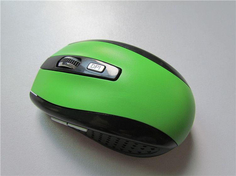 Souris de jeu à 6 touches 2.4GHz 2000DPI Souris optique sans fil USB Récepteur PC Ordinateur sans fil pour ordinateur portable