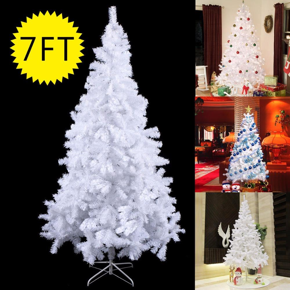 wholesale goplus 7ft 213cm large christmas tree with stand holiday indoor outdoor white christmas gift decoration for home cm19735 trees cheap trees goplus - Wholesale Large Christmas Decorations