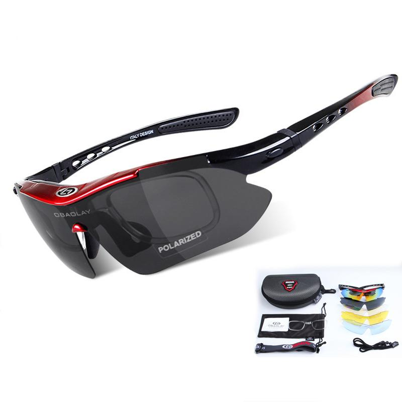 2e71a16bf07 2019 Outdoor Sport Men Women Cycling Glasses UV400 Polarized Five Lenses  With Box Sunglasses For Bicycle Fishing MTB Goggles Eyewear From  Qingteawater