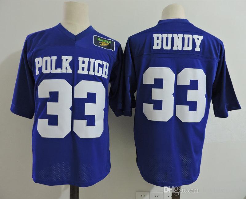 b7762bd2a Stitched 33 Al Bundy Polk High Jersey Married With Children Football ...