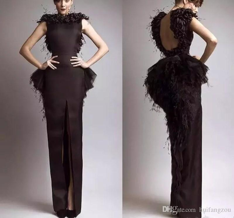 Krikor Jabotian Prom Dresses Vintage Formal Evening Dresses Black ...