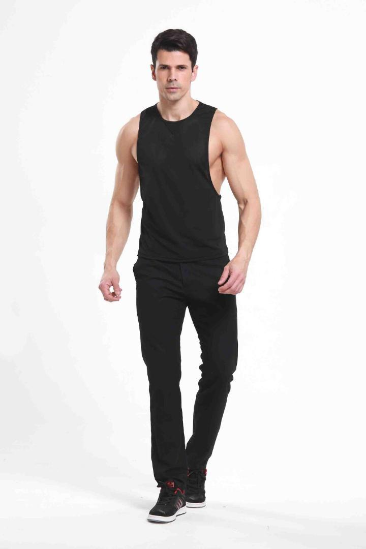 Mens Sexy Vest Black Sheer Mesh Tank Tops Sleeveless Loose Sportwear T Shirts Men's Undershirts Lingerie Tees