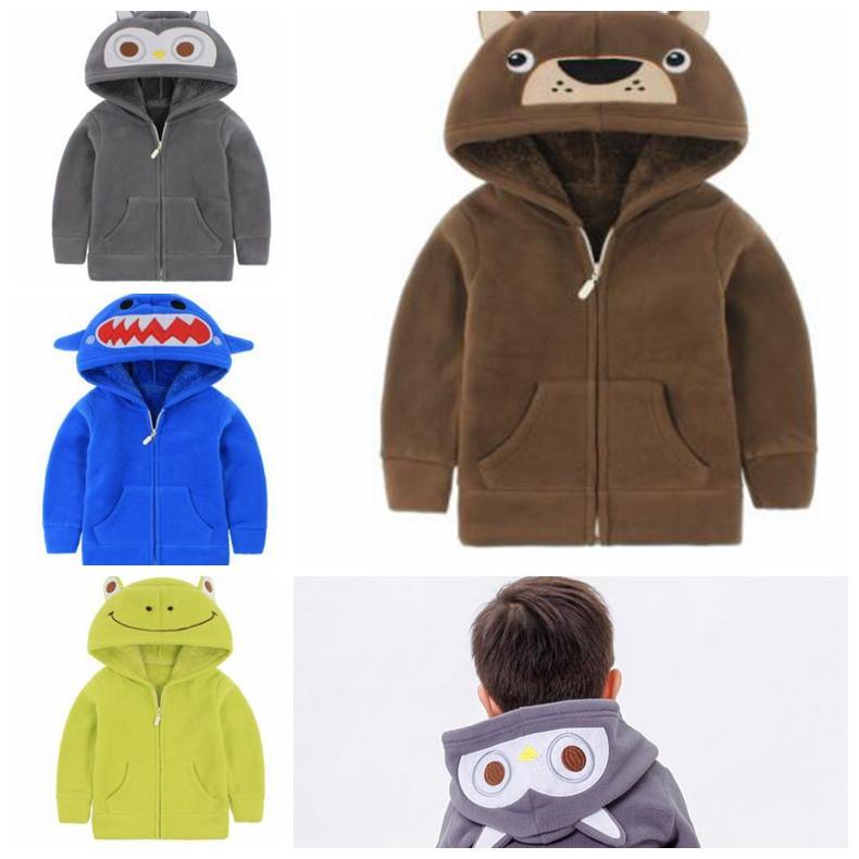 9f8cae84d833 Kids Winter Coat Boys Kids Hooded Bears Coat Fashion Plush Warm ...
