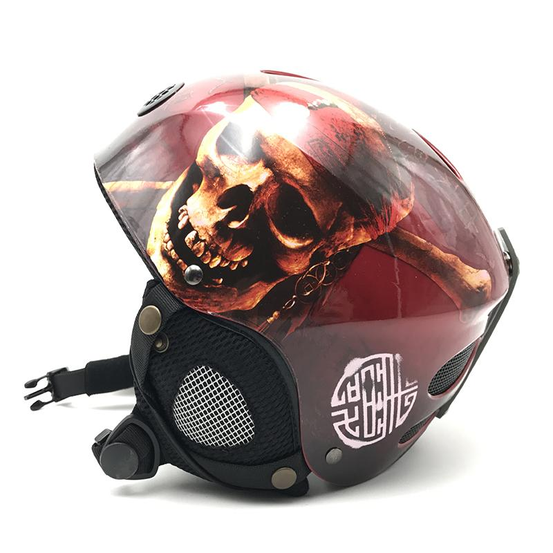 06daf68346ab 2019 Cool Skull Design Kids Skiing Snowboard Helmet For Boys Girls ...
