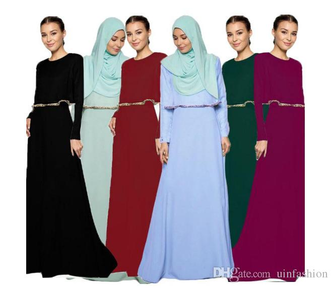 d2438d7ebe Muslim Women Dress Long Sleeve O Neck Malaysia Islamic Abaya Fashion Muslim  Floor Length Loose Maxi Party Dresses Cotton Dresses Sexy Cocktail Dresses  From ...