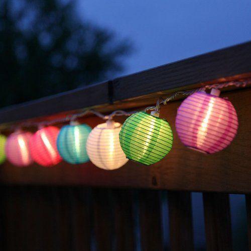 Multi Color Lantern String Lights Paper Lanterns Mini Oriental Style