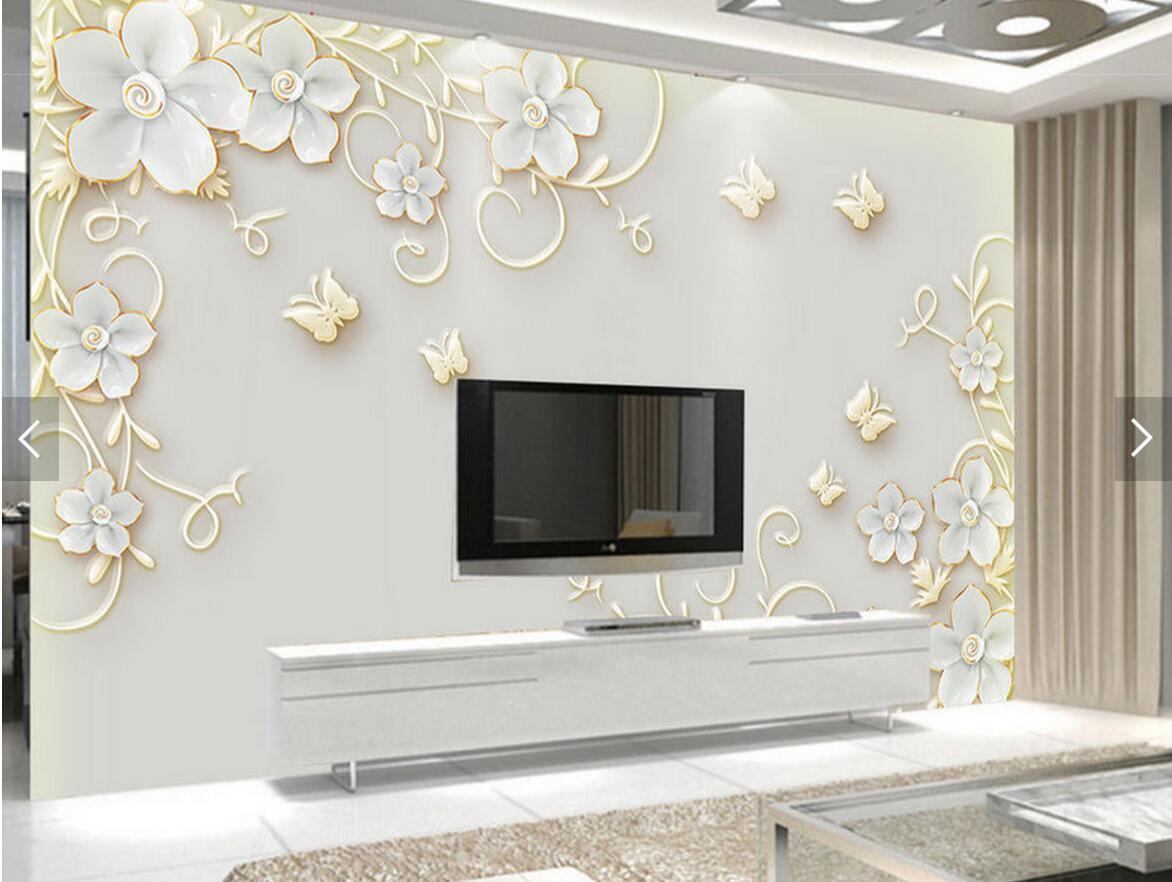 Nature Tree 3d Landscape Mural Photo Wallpaper For Walls 3 D Living ...