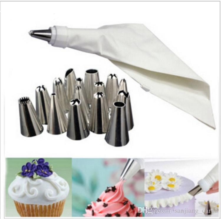 Stainless Steel Cake Decorating Icing Pastry Cream Piping Nozzles Tips Set DIY Cake Decor Tools
