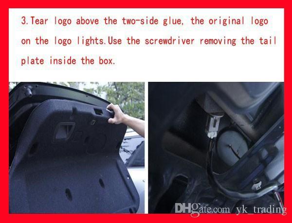 11cm * 11cm emblème de voiture lumière pour VW Golf 6 tiguan bora CC scirocco Magotan Badge autocollant LED lumière 5D logo emblèmes lumière