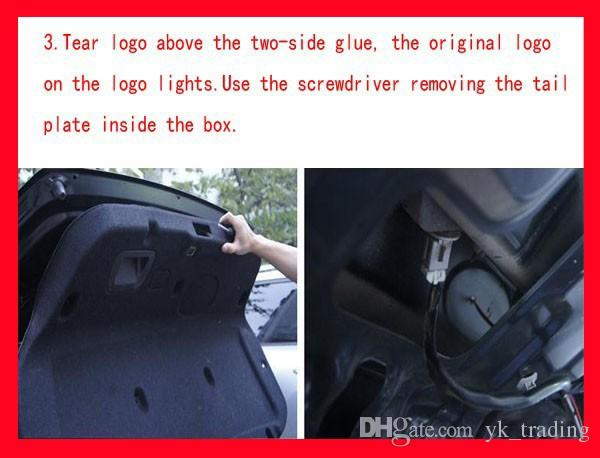 13.3 cm * 10.1 cm Car Emblem light mitsubish galant lancer zinger asx cuv lioncel Badge Sticker LED light 5D logo Emblemi luce