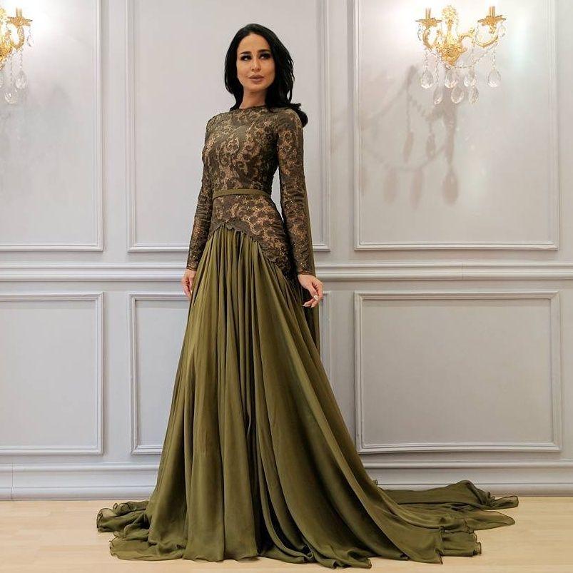 Großhandel Saudi Arabien Chiffon Abschlussball Kleid Juwel Ansatz ...