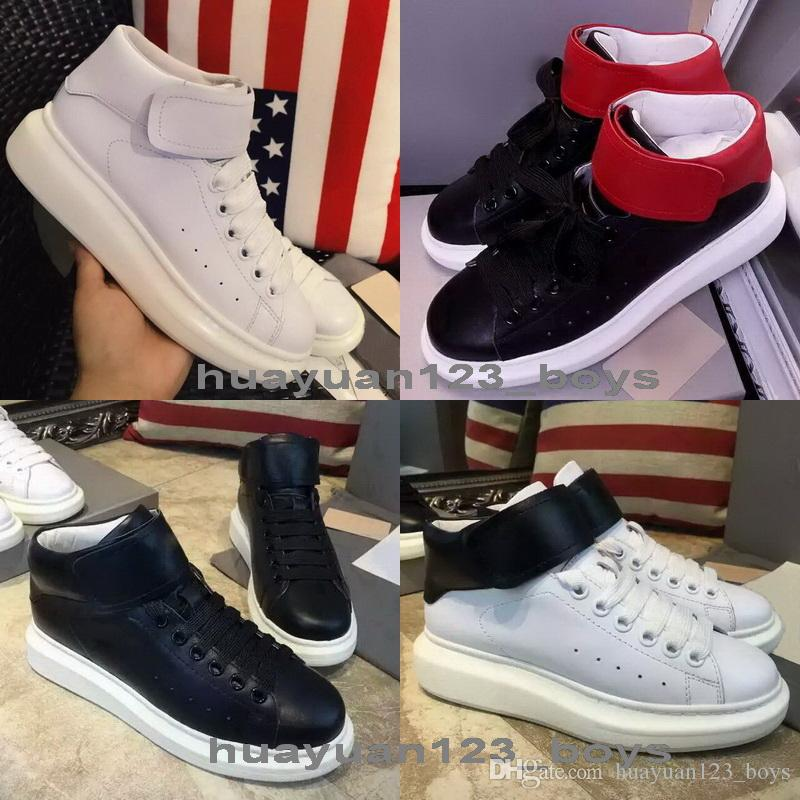 636475169a5e High Top Sneakers Platform Shoes Mens Women S Creepers Shoes Lady Trainers  Flats Couple Casual Shoes Genuine Leather White Black Red Moccasins Boat  Shoes ...